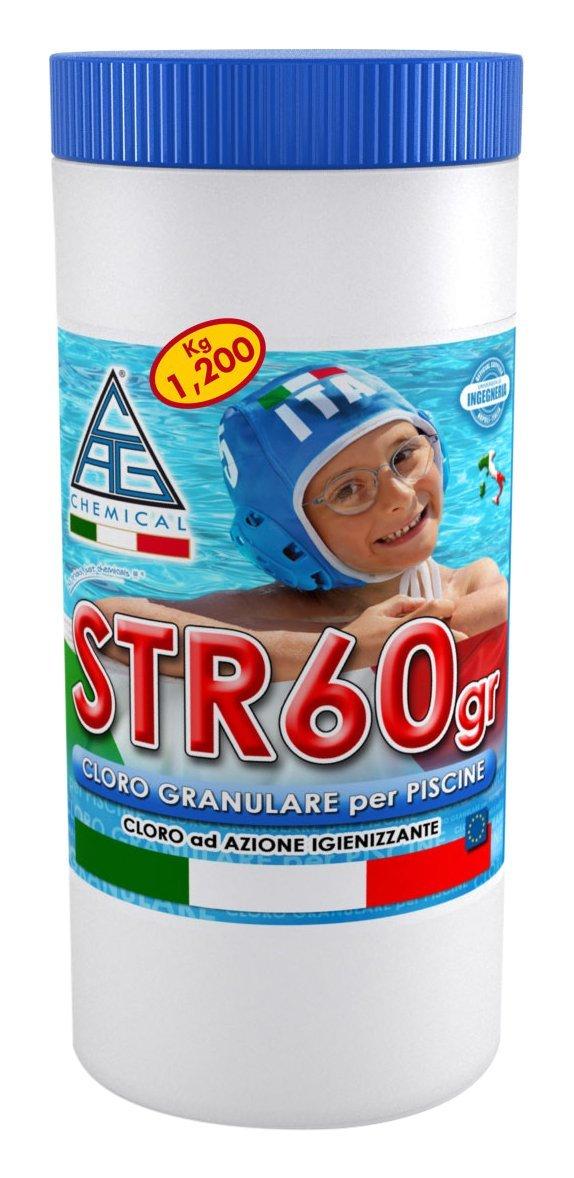 Cloro in polvere per piscine kg 1 2 str60gr disinfettante for Cloro per piscine