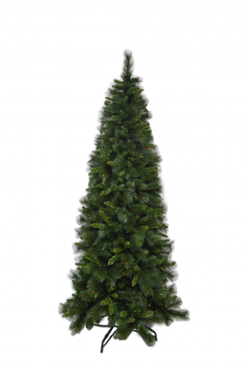 Albero Di Natale Stretto.Albero Di Natale Mod Lapponia Cm 240h Slim Salvaspazio Albero Natalizio Stretto Folto
