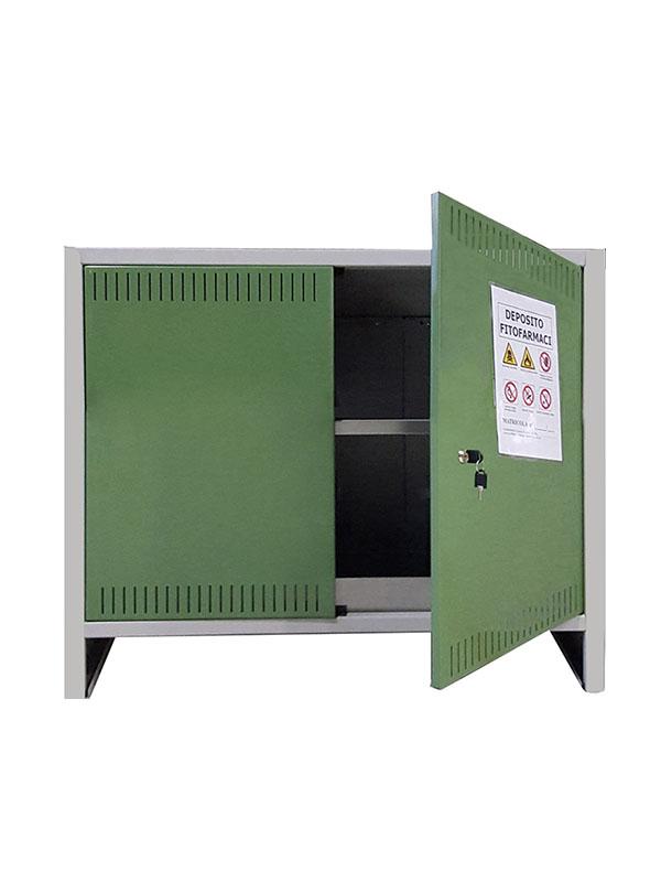 Armadio Per Prodotti Fitosanitari.Armadio Mini Fitofarmaci 100x40x80 In Kit Certificato Per Prodotti Fitosanitari Su Opiros