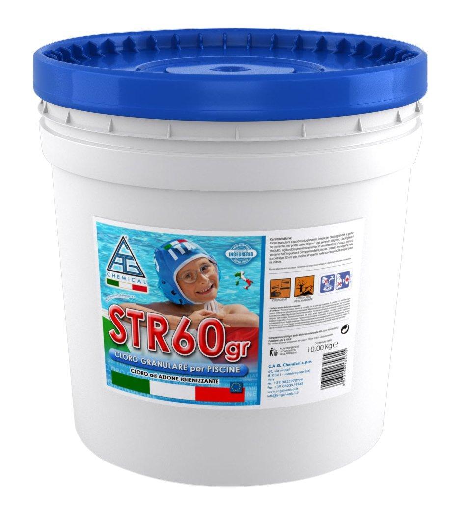 Cloro in polvere per piscine kg 5 str60gr disinfettante for Cloro per piscine