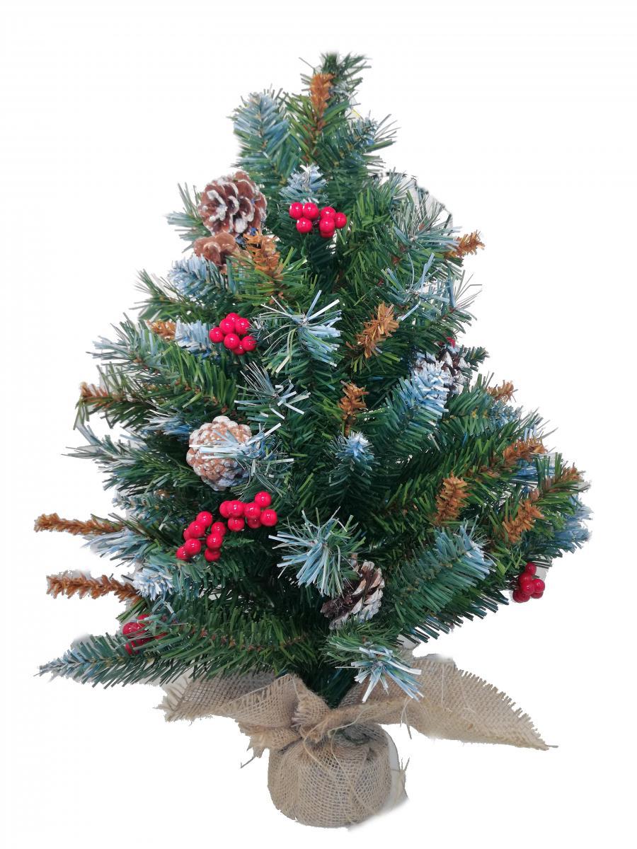 Pungitopo Decorazioni Natalizie.Acquista Albero Di Natale Cm 60h Mod Lilliput Alberello Con Base A